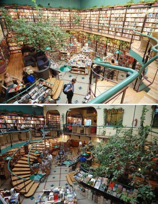 Cafebreria El Pendulo - самый зеленый книжный магазин