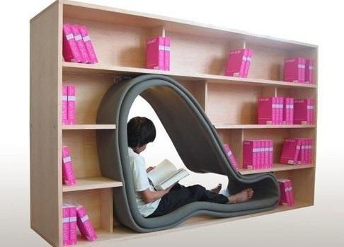Гламурный книжный шкаф
