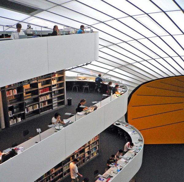 Библиотека факультета философии Свободного университета Берлина