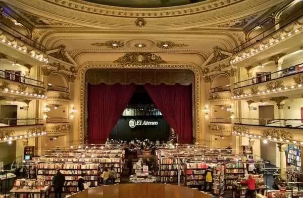 книжный магазин El Ateneo Grand Splendid Theater в ретро-стиле