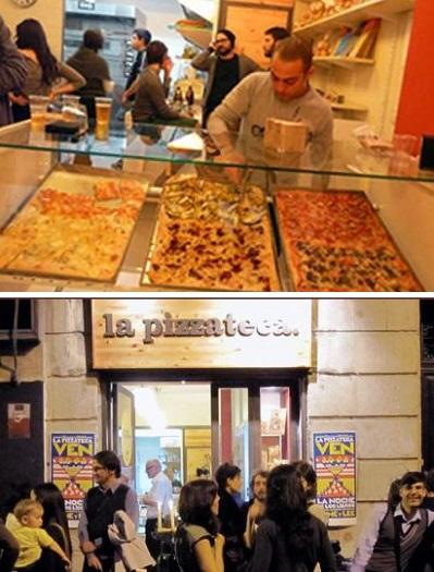 пиццерия, объединенная с книжным магазином