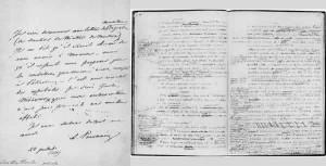 Письмо Пушкина и черновая рукопись