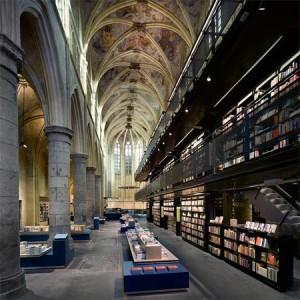 Книжный магазин Boekhandel Selexyz Dominicanen, книжный магазин в церкви, книжный магазин в Маасрихте