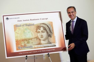 Джейн Остин, Джейн Остин на купюрах, Джейн Остин на банктонах, Джейн Остин портрет, Банк Англии