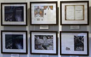 Пушкинская библиотека-музей Белгород, выставка иллюстраций в Белгороде, художники пишут книги
