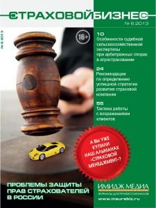 Анонс журнала «Страховой бизнес» № 6 2013, Страховой бизнес, Издательский дом Имидж-Медиа, деловая пресса