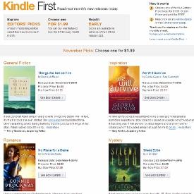 Amazon Kindle First, Amazon Kindle, Kindle First, предзаказ электронных книг, электронные книги со скидкой