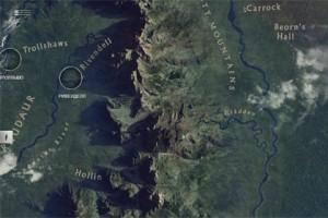 карта Средиземья, Дж. Р. Р. Толкиен, Хоббит экранизация, Хоббит: Пустошь Смауга
