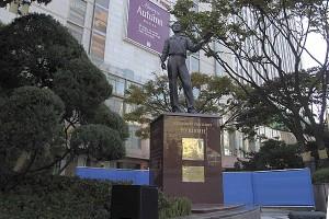 памятник Пушкину в Сеуле, Путин открыл памятник Пушкину в Корее, памятник Александру Сергеевичу Пушкину, новости литературы