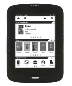 Букридер teXet TB-166, новинки электронных книг, новинки букридеров, обзор букридера teXet TB-166