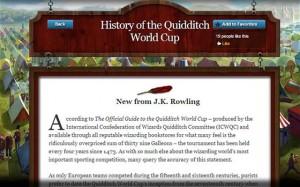 ''История Кубка мира по квиддичу'' , Гарри Поттер, Джоан Роулинг
