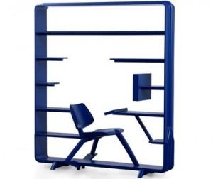 И стол стул и книжная полка, необычные книжные полки, литература в картинках