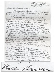 Харпер Ли, письма Харпер Ли, Убить пересмешника, новости литературы