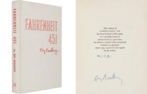 """""""451 градус по Фаренгейту"""" в огнеупорной обложке , аукцион редких книг, Рэй Брэдбери, новости литературы"""