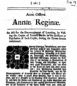 «Статут королевы Анны», первый закон об авторском праве, 10 апреля день в истории