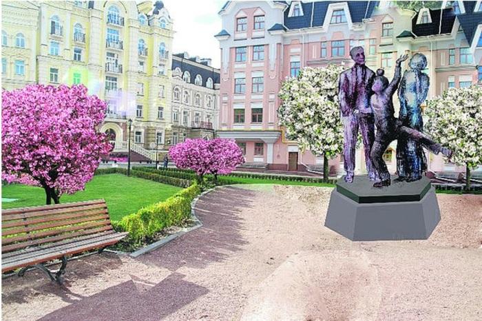 7 место - Булгаковы и сад в белом цвету. Проект скульптора Александра Моргацкого