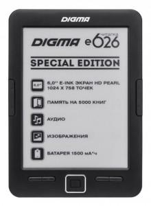 Digma E626 Special Edition, новинки букридеры, анонсы букридеры