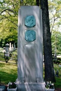 Марк Твен, могила Марка Твена, с могилы Марка Твена украли табличку