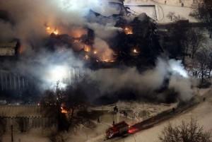 Библиотека ИНИОН, пожар в библиотеке, ИНИОН пожар