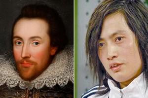 Чжан Юй, Уильям Шекспир, китайский писатель похож на Шекспира