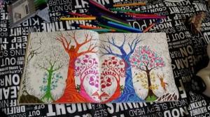 Джоанна Бэсфорд, Таинственный сад, Зачарованный лес,  раскраски для взрослых