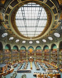 Национальная библиотека Франции, Овальный зал на улице Ришелье, созданный по проекту Жан-Луи Паскаля (Париж, Франция)
