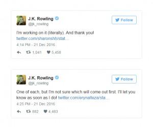 Сообщения в Твиттере Дж.Роулинг