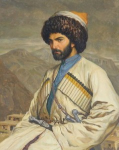 Хаджи-Мурат на фоне села Хунзах, 1848