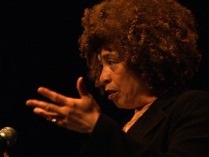 Angela Davis speaking at Myer Horowitz Theatre of the University of Alberta Mar 28,2006