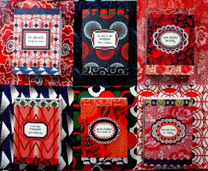 Широкий диапазон стилей и узоров оформления – от вышитых цветов до авангардного театра графики – отражают масштабы времени, охватываемый в романах шеститомной русской коллекции «Vintage Classics»