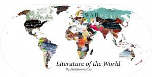 Одна из версий литературной карты мира