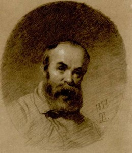 Тарас Шевченко (1814 – 1861). Автопортет, написанный в Нижнем Новгороде, 1857 год
