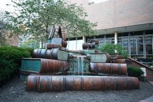 Фонтан книг в Цинциннати, США