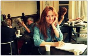 Джоан Роулинг в кафе «Николсонс»