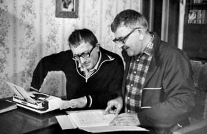 Борис и Аркадий Стругацкие за работой