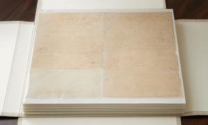 Первые несколько страниц рукописи в Книге Мормона