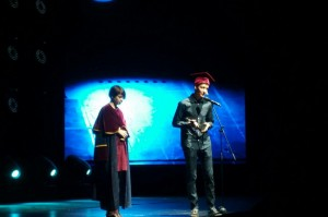 Дарья Варламова и Антон Зайниев, лауреаты премии «Просветитель» в номинации «Естественные и точные науки»