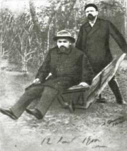 А.П. Чехов и В.А. Гиляровский в Мелихово, 1892 г.