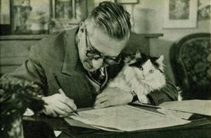 Жан-Поль Сартр и его кот по имени Ничто