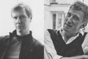 поэт Александр Скидан и художник Владимир Логутов