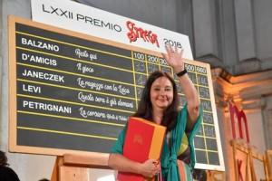 Helena Janeczek, vincitrice del LXXII Premio Strega, Roma 5 luglio 2018. ANSA/ALESSANDRO DI MEO