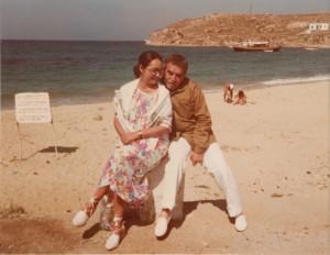 Габриэль Гарсиа Маркес с женой Мерседес на острове Крит