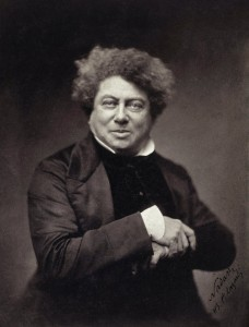 A photograph of Dumas in 1855, by Gaspard-Félix Tournachon, who used the pseudonym Nadar