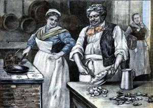 Александр Дюма-отец готовит устричный омлет