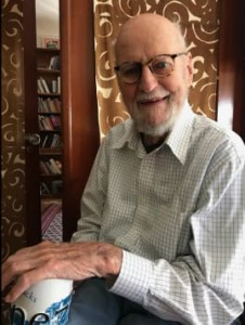 Lawrence Ferlinghetti, shown recently at home, turns 100 on March 24, 2019