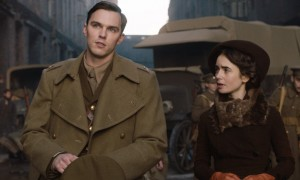 Nicholas Hoult as JRR Tolkien and Lily Collins as his wife Edith in Tolkien