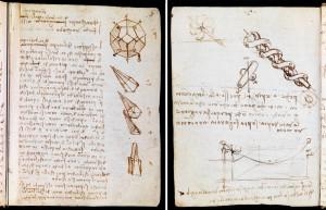 (Left) Codex Forster I (folio 7 recto) and (Right) Codex Forster I (folio 43 verso)