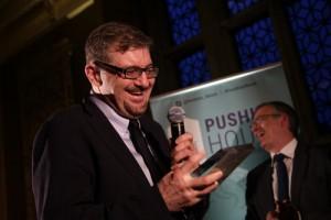 Serhii Plokhy receiving the Pushkin Prize 2019 award